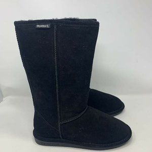 BearPaw Womens Boots Black Pull On Boots Size 9